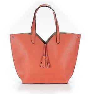 NEIMAN MARCUS Orange 🍊 Tote Bag w/ tassels NWOT!